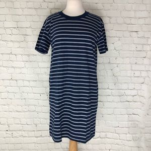 Madewell Striped T-Shirt Dress Tunic 100% Cotton